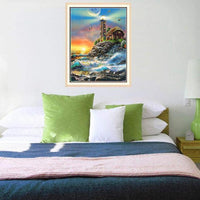 2019 5d Diy Diamond Painting Kits Lighthouse Seaside Landscape VM09049