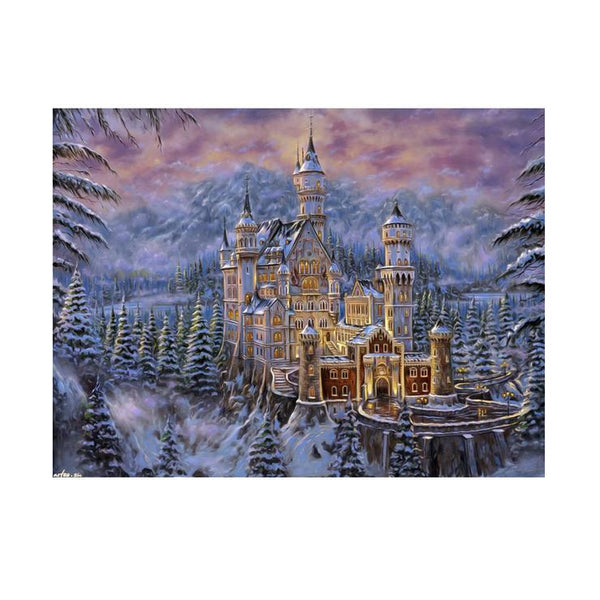 New Oil Painting Style Castle Diy 5d Diamond Painting Kits QB5361