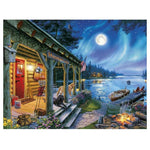 New Arrival Oil Painting Style Village Cottage Diy 5d Diamond Painting Kits QB5352