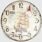 2019 5D DIY Diamond Painting Kits Retro Sailing Clock NB0158