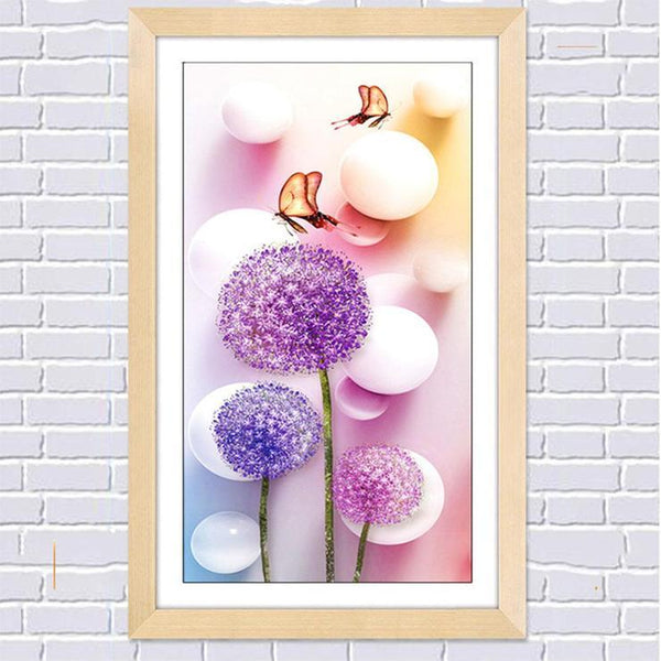 2019 5D Diy Dandelion Diamond Embroidery Modern Art Lavender VM1077