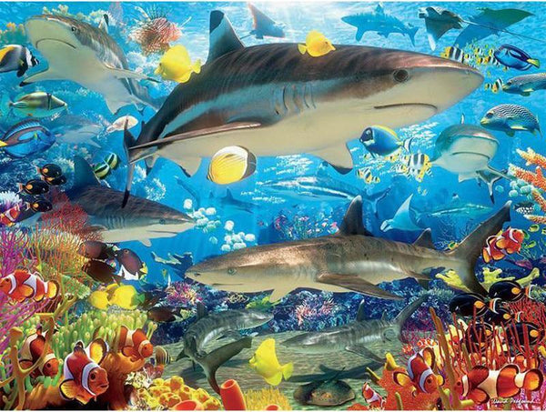 5d Diy Diamond Painting Kits Cartoon Style Shark NA0341