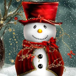 Dream Style Full Square Drill Snowman 5d Diy Diamond Painting Kits NA0378