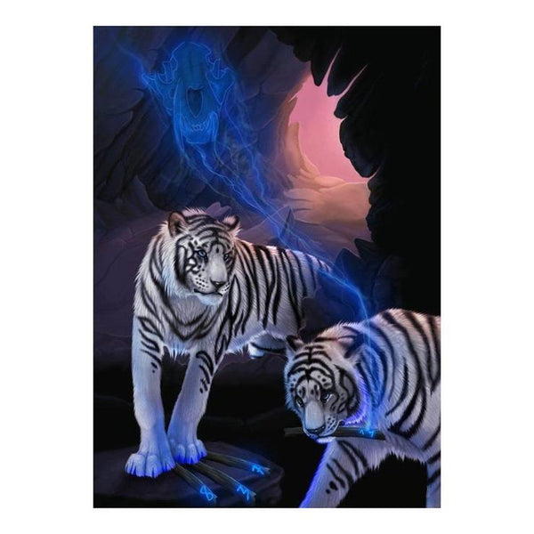 2019 5d Diy Full Diamond Painting Kits Special Animal Tiger Picture QB5058