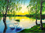 2019 5D DIY Diamond Painting Kits Embroidery Art Swan Lake VM90350