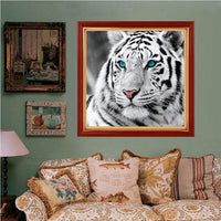 For Beginners Tiger Picture 5d Diy Cross Stitch Diamond Painting Kits QB6431