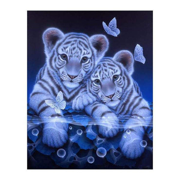 2019 5d Diy Diamond Painting Kits Tiger Babies QB6432