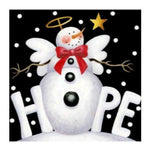 New Arrival Cartoon Winter Snowman 5d Diy Cross Stitch Diamond Painting Kits QB7142