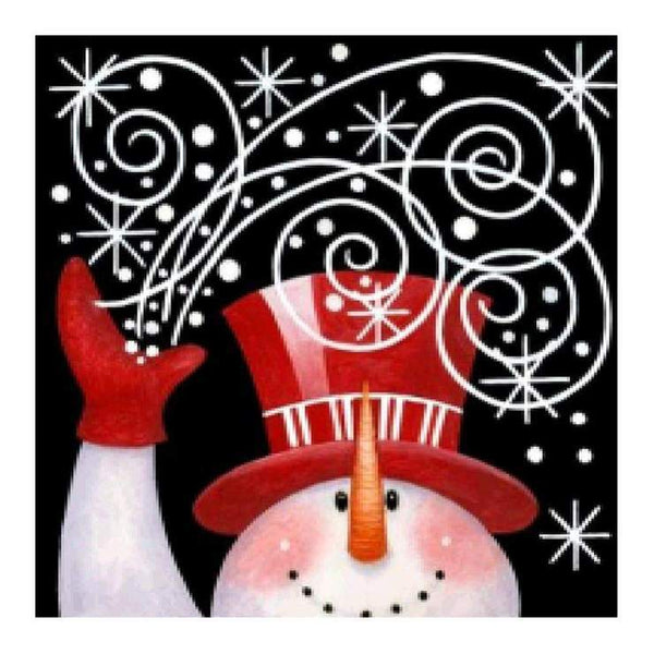 Cheap Cartoon Snowman 5d Diy Cross Stitch Diamond Painting Kits QB7143