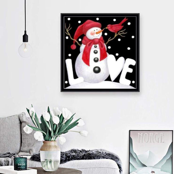 New Arrival Cartoon Snowman 5d Diy Cross Stitch Diamond Painting Kits QB7144