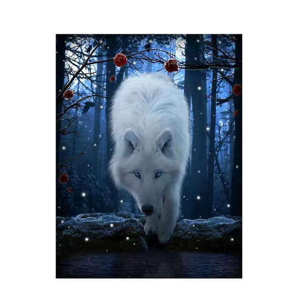 2019 5d Diy Diamond Painting Kits New Wolf Pattern QB6581