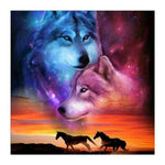 Dream New Wolf Horse Pattern 5d Diy Cross Stitch Diamond Painting Kits QB6610