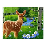 Oil Painting Styles Lovely Woods Deer Diamond Painting Kits For kids AF9140