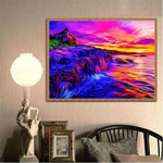 Home Decorate Modern Art Styles Colorful Sea Sunset Diamond Painting Kits Af9710