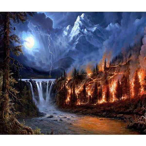 Home Decorate Dream Series Mountain Lake Diamond Painting Kits AF9550