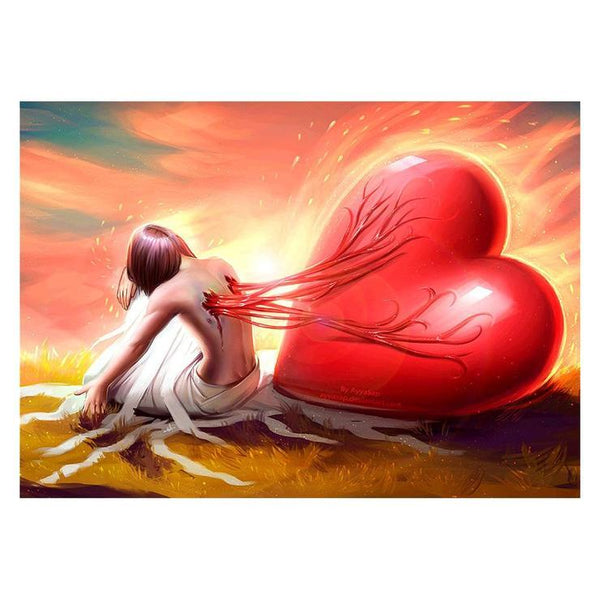 Modern Art Styles Popular Heart Diamond Painting Kits AF9414