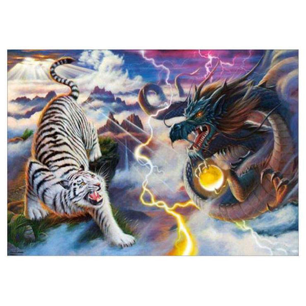 Chinese style dragon and tiger Dragon Diamond Painting Kits AF9109