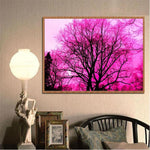 Hot Sale Pretty Pink Trees Diamond Painting Kits AF9580