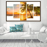 Home Decorate Large Multi Panel Beach Tree 5D DIY Mosaic Diamond Painting Kits QB9013