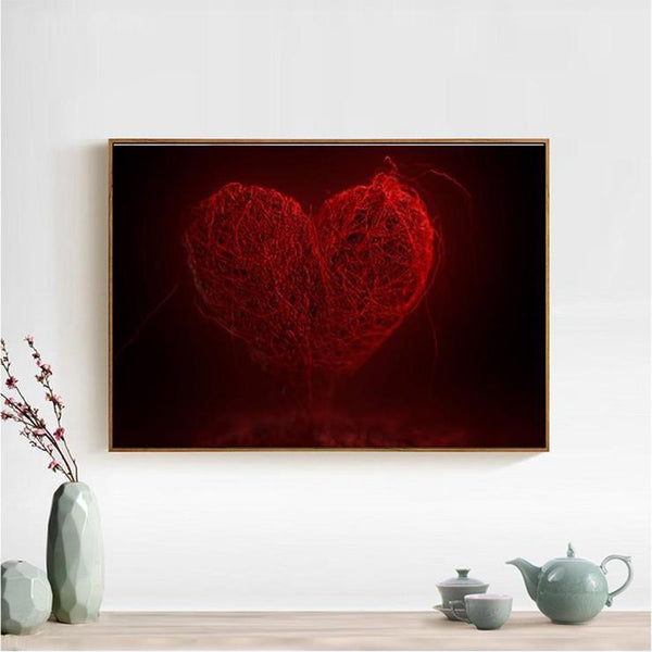 Hot sale Red Series love Heart Diamond Painting Kits AF9421