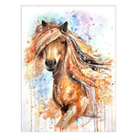 Modern Art Styles Lovely Yellow Horse Diamond Painting Kits AF9192