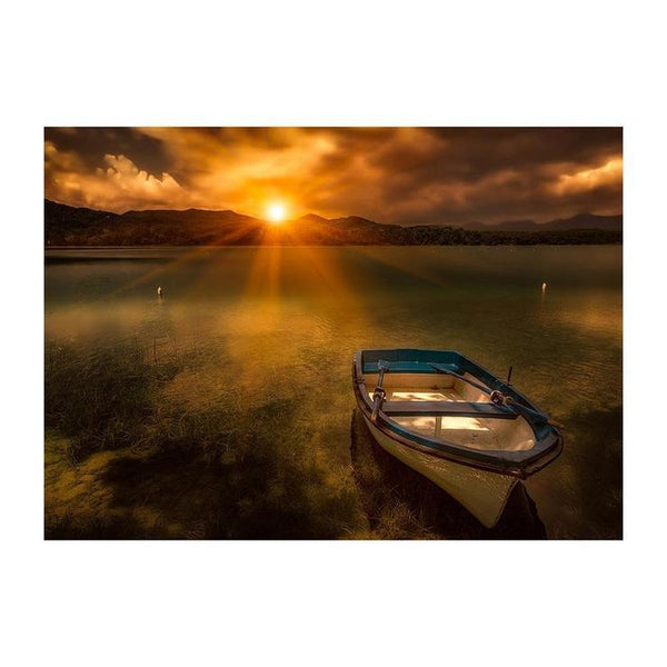 5D DIY Diamond Painting Kits Warm Series Quiet Beautiful Lake Sunset Af9716