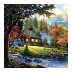 Oil Painting Series Dream Colorful Cottage Diamond Painting Kits AF9617