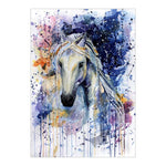 Colorful Watercolor Ink Painting Horse Diamond Painting Kits AF9194
