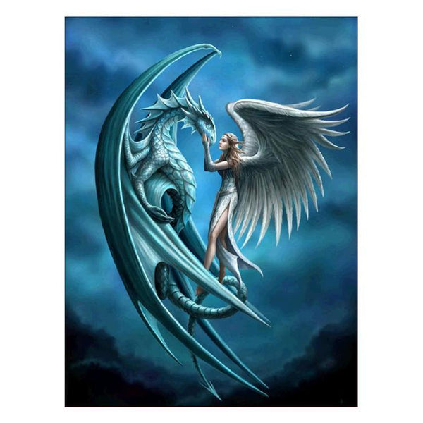 Cheap Fantasy Styles Blue Dragon Diamond Painting Kits AF9114