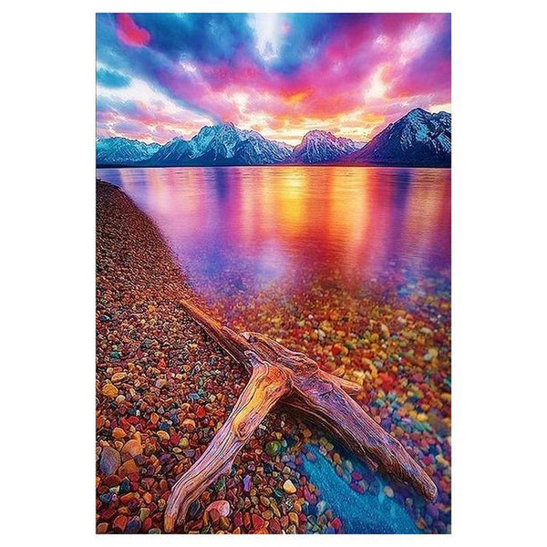 5d Diy Diamond Painting Kits Colorful Mountain Lake AF9545