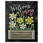 5d Diy Diamond Painting Kits Flowers Blackboard AF9035