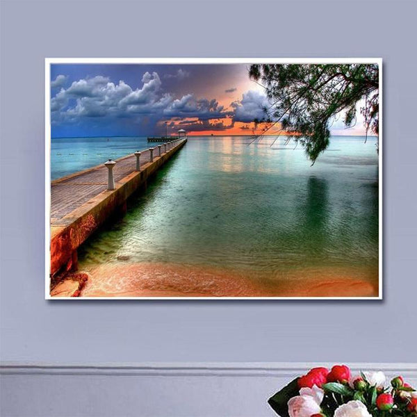 Hot Sale Quiet Evening By The Sea Diamond Painting Kits AF9548