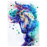 Colorful Modern Art Styles Ink painting Horse Diamond Painting Kits AF9195