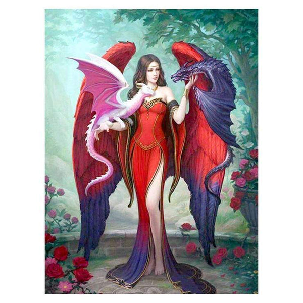 Fantasy The beauty and Dragon Diamond Painting Kits AF9121