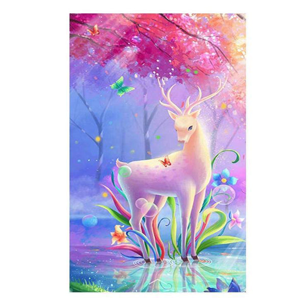 Cheap Colorful Fantasy Styles Deer Diamond Painting Kits For kids AF9144