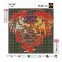 Heart-Shaped Dragon Diamond Painting Kits For kids AF9128