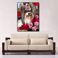 2019 5d Diy Diamond Painting Kits Cute Dog With Bowbot VM3659 (1767007715418)