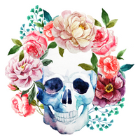 2019 5D Diy Diamond Painting Art Kits Flower Skull VM90520