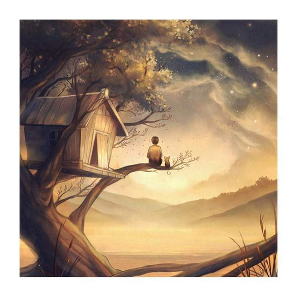 5d Diy Diamond Painting Kits Cartoon Style Landscape QB6536