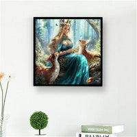 5d Hot Sale Dream Beauty And Animal Deer Diy Diamond Embroidery Kits VM8552