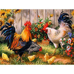 5d Oil Painting Style New Arrival Cock In Garden 5d Diamond Painting Kits VM8557