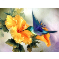 5D Square Diamond Painting Oil Painting Style Bird And Flower VM1131 (1766939590746)