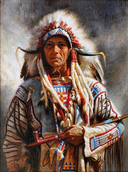2019 5d Crystal Diamond Painting Kits Indian Soldier Portrait VM20066
