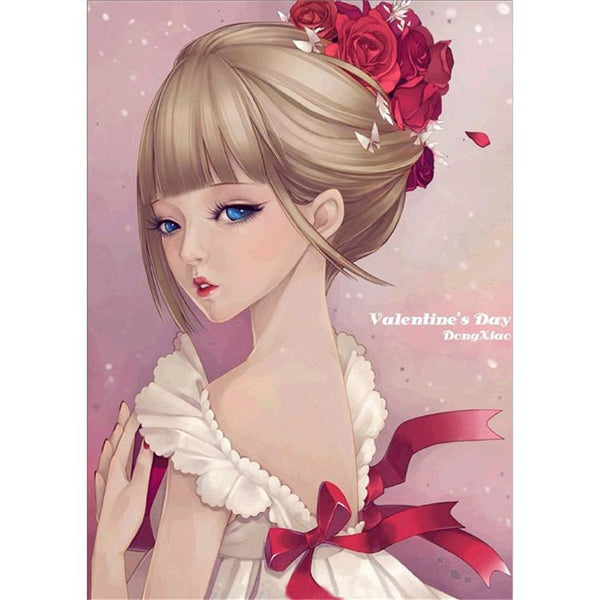 2019 5D Diy Diamond Painting Kits Girl Picture Wall Decor VM9488