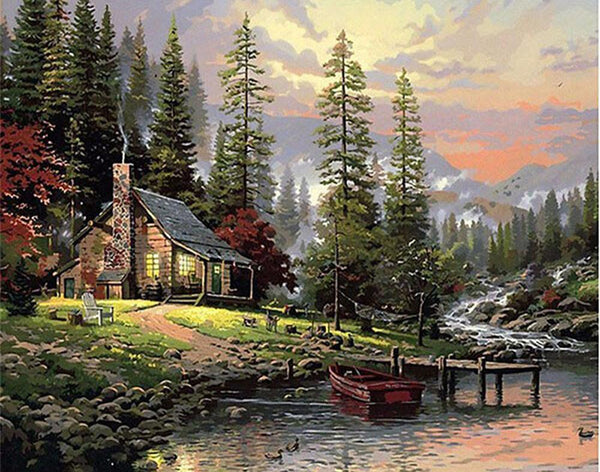 5D Diy Diamond Painting Kits Cross Stitch Rhinestones Autumn Scenery VM90549