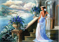 5D Diy Diamond Painting Kits Cross Stitch Art Beautiful Girl VM90552