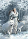 5d Diy Diamond Painting Kits Beauty And Animal Wolf Winter VM8111