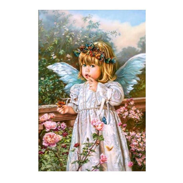 2019  5d  diy  Diamond Painting Baby Angel QB6001