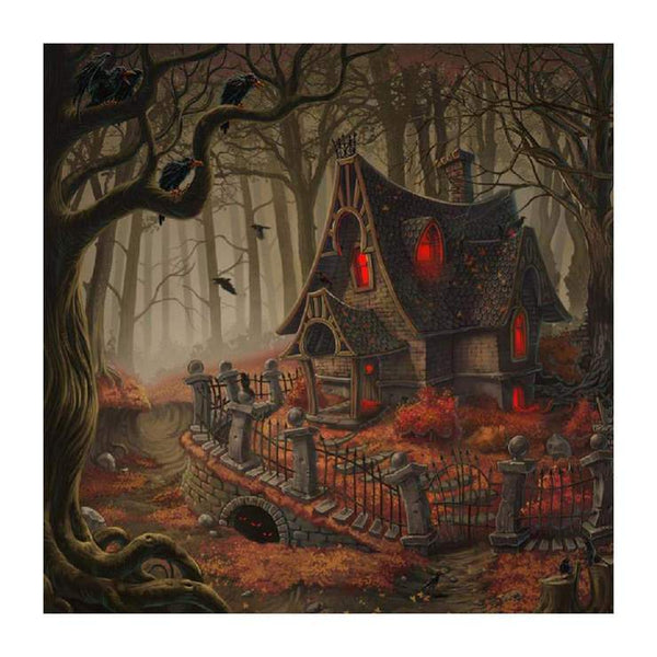 5d Diy Cross Stitch Diamond Painting Kits Cartoon Halloween QB8038