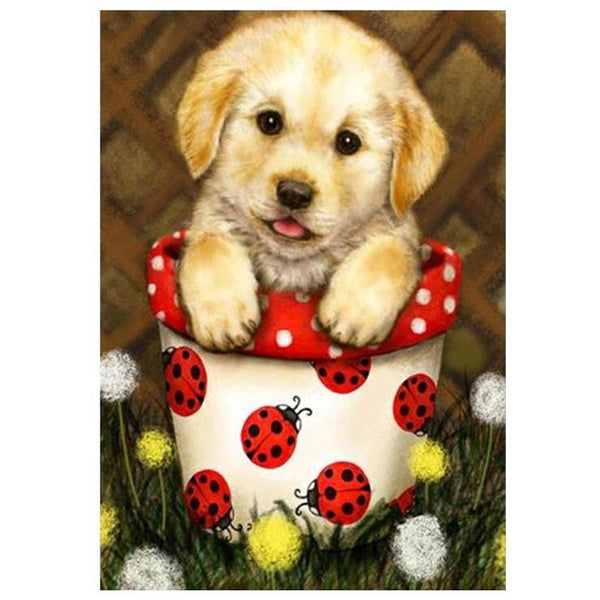 2019 5d DIY Diamond Painting Kits Best Cartoon Pet Dog QB5443